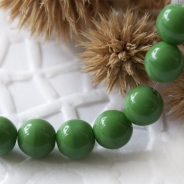 Czech Round Glass Beads 6 mm Green 20 pcs