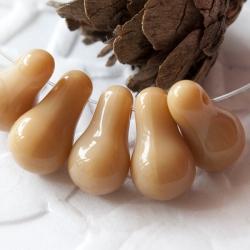 Czech Glass Pears 11x6 mm Beige 10 pcs