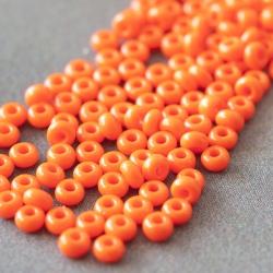 9/0 Czech Glass Seed Beads Preciosa (20g) Orange