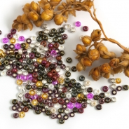 11/0 Czech Glass Seed Beads Preciosa (20g) MIX Dark