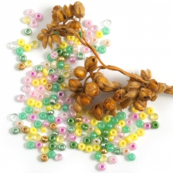 10/0 Czech Glass Seed Beads Preciosa (20g) MIX Light