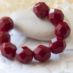 Czech Fire Polished Beads 6 mm Vinous Red 20 pcs