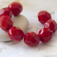 Czech Fire Polished Beads 6 mm Lust Red 20 pcs