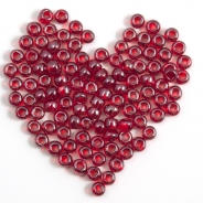 8/0 Czech Glass Seed Beads Preciosa (20g) Luster Red