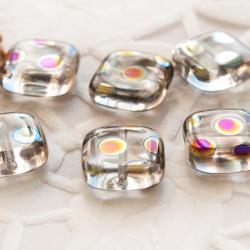 Czech Glass Baeds 10 mm Transparent with Finish 10 pcs