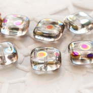 Czech Glass Beads 10 mm Transparent with Finish 10 pcs