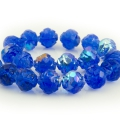 Czech Glass Rosebuds 8 mm Dark Blue 10 pcs