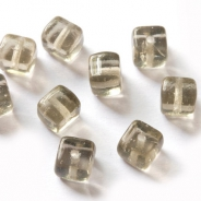 Czech Glass Cubes 5 mm Gray 20 pcs