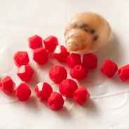 M.C. beads bicones 4 mm red opaque 30 pcs.