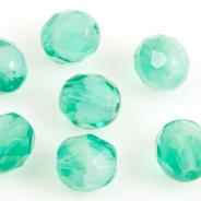 Fire Polished Givre Beads 8 mm Aquamarine 10 pcs