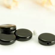 Czech Glass Coins 10 mm Black Jet 10 pcs.