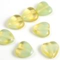 Czech Glass Givre Hearts 10mm Yellow 10 pcs