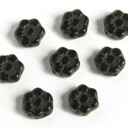 Czech Glass Beads 8 mm Black 20 pcs.