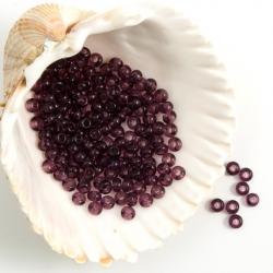 10/0 Czech Glass Seed Beads Preciosa 20g. Amethyst