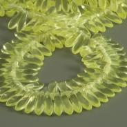 Czech Glass Tears 11x3 mm Lemon Yellow 40 pcs