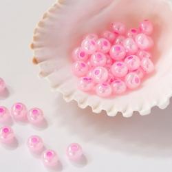 6/0 Czech Glass Seed Beads Preciosa 20g Luster Pink