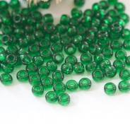 11/0 Czech Glass Seed Beads Preciosa 20g Forest Green