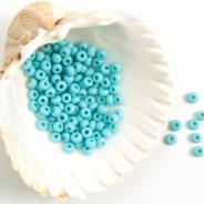 9/0 Czech Glass Seed Beads Preciosa 20g Sky Blue