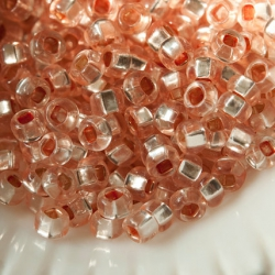8/0 Czech Glass Seed Beads Preciosa 20g Apricot