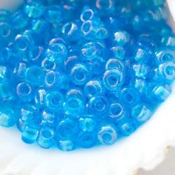 7/0 Czech Glass Seed Beads Preciosa 20g Light Blue AB