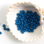8/0 Czech Glass Seed Beads Preciosa 20g Blue