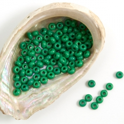 10/0 Czech Glass Seed Beads Preciosa 20g Malachite Green