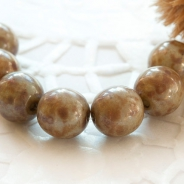 Czech Beads 8 mm Brown Picasso 10 pcs