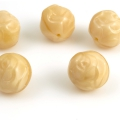 Czech Glass Satin Roses 10 mm Beige 10 pcs