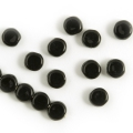 Czech Glass Coins 5 mm Black Jet 25 pcs