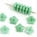 Czech Glass Bead-Caps 7 mm Turquoise 30 pcs