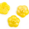 Czech Glass Pinwheel Flower Beads 12 mm Luster Yellow 10 pcs