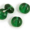 Czech Glass Donuts 9 mm Emerald Green 10 pcs