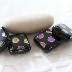 Czech Glass Beads 10 mm Black/Jet with Finish 10 pcs