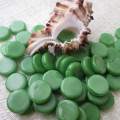 Czech Glass Coins 10 mm Apple Green 10 pcs