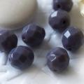 Czech Fire Polished Beads 8 mm Purple/Violet 10 pcs