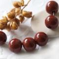 Czech Round Glass Beads 6x7 mm Brown 20 pcs